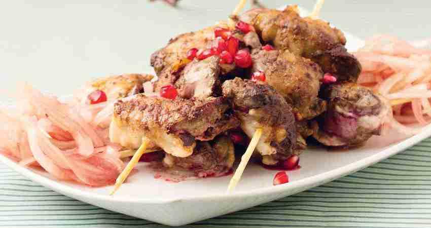 Жигар-кебаб (из куриной печи)