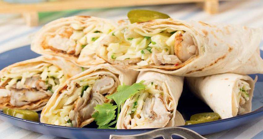 Мексиканские рыбные роллы с пикантным салатом