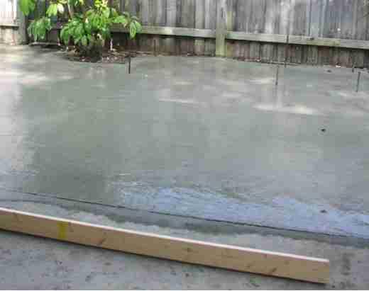 Заливка бетона под барбекю