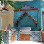 Зона барбекю в арабском стиле