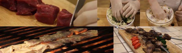 сочный шашлык из говядины с кефиром