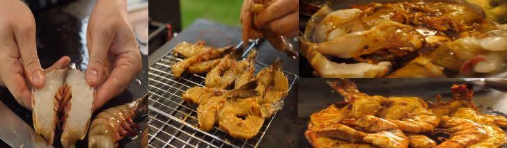 морепродукты на мангале