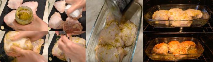 окорочка в горчичном маринаде