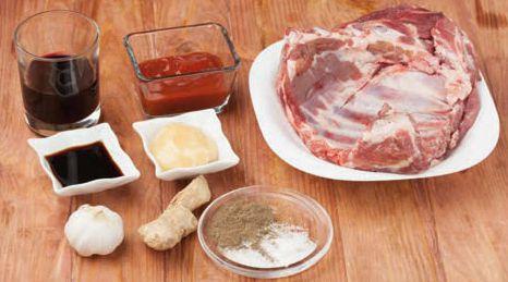 Ингредиенты для Барбекю из свиных рёбрышек