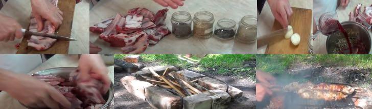 вкусные бараньи ребрышки на мангале