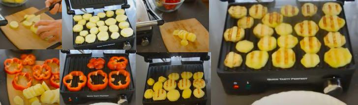 картошка на электрогриле