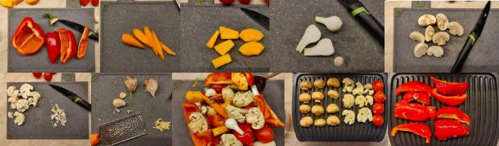 вкусные овощи на электрогриле