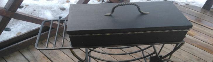 мангал с крышкой