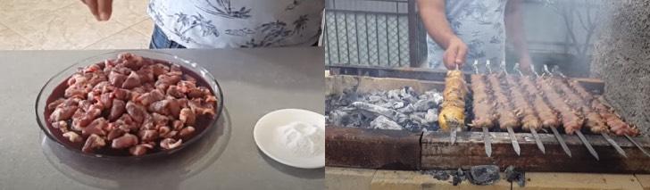 сердечки куриные на мангале