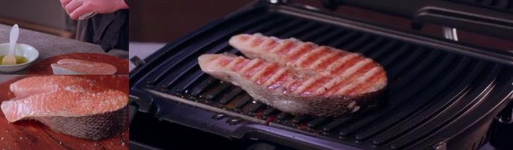 лосось на электрогриле