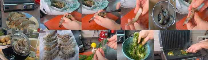 креветки на электрогриле с чесноком